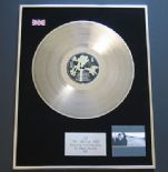 U2 - The Joshua Tree PLATINUM LP presentation Disc